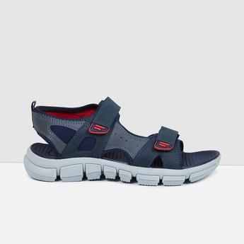 MAX Solid Velcro-Strap Sandals