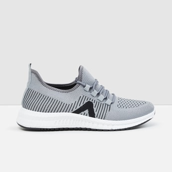 MAX Mesh Panel Detail Casual Lace-Up Shoes