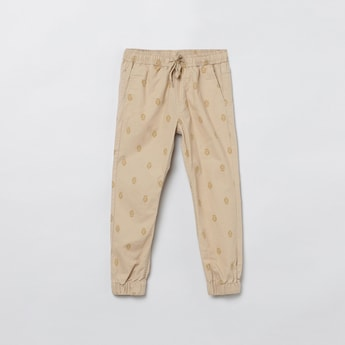 MAX Printed Woven Jogger Trousers