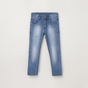 MAX Stonewashed Slim Fit Denim Jeans
