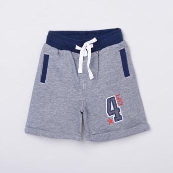 MAX Embroidered Elasticated Knitted Shorts