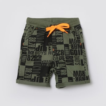 MAX Typographic Printed Elasticated Shorts