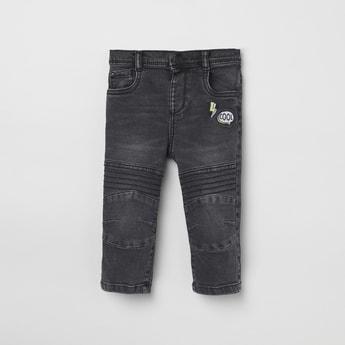 MAX Appliqued Slim Fit Denim Jeans