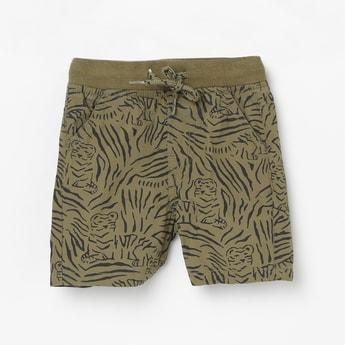 MAX Animal Printed Woven Shorts