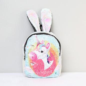 MAX Sequin Embellished Zip-Closure Backpack