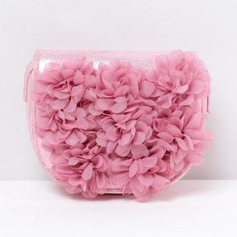MAX Flower Appliqued Sling Bag