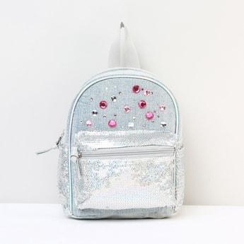 MAX Embellished Zip-Closure Backpack