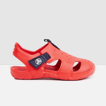 MAX Solid Closed-Toe Sandals with Velcro Closure