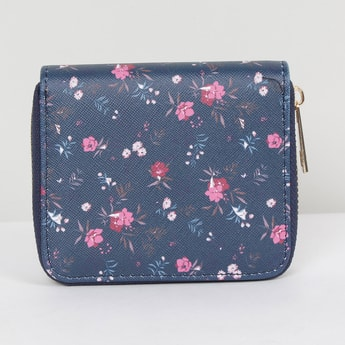 MAX Floral Print Zip-Around Wallet