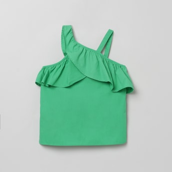 MAX Solid Layered Sleeveless Woven Top