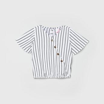 MAX Striped Blouson Top
