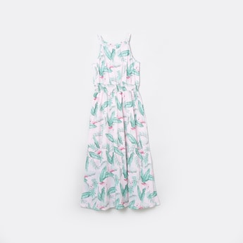 MAX Printed Halter Neck A-Line Dress