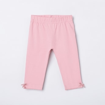 MAX Solid Bow Detail Leggings