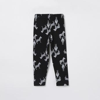 MAX Zebra Printed Elasticated Leggings