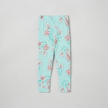 MAX Floral Printed Elasticated Leggings