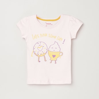 MAX Printed Round Neck T-shirt