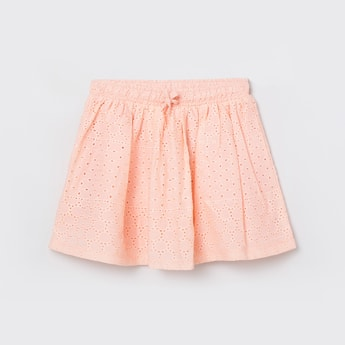 MAX Schiffli Detailed Elasticated A-Line Skirt