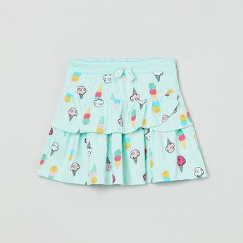 MAX Printed Layered Skirt