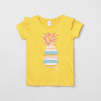 MAX Printed Embroidered T-shirt