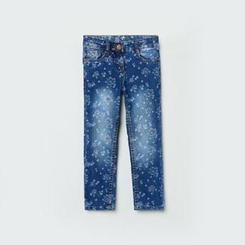 MAX Floral Print Slim Fit Jeans