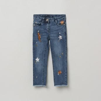 MAX Embellished Slim Fit Denim Jeans