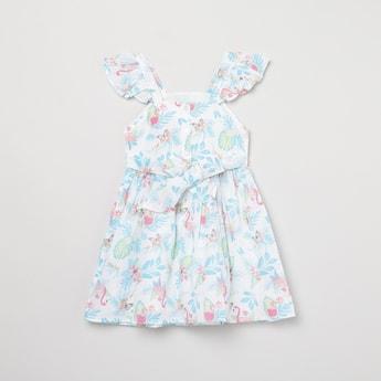 MAX Floral Print A-Line Dress