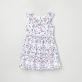 MAX Floral Print Sleeveless A-line Dress