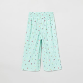 MAX Floral Print Elasticated Flared Pants