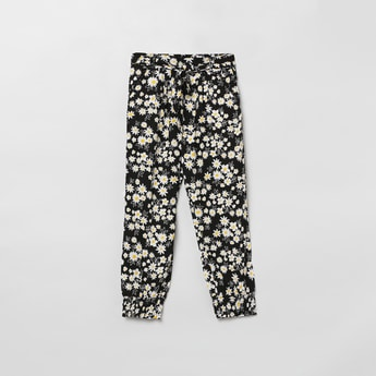MAX Floral Print Woven Elasticated Trousers