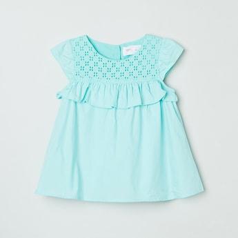 MAX Shiffli Detailed Solid Dress