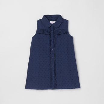 MAX Textured Collared Top