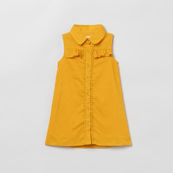 MAX Textured Button-Down Longline Top