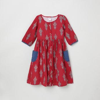 MAX Printed A-Line Ethnic Dress
