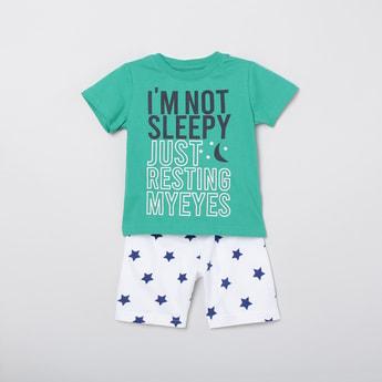 MAX Printed T-shirt with Woven Shorts
