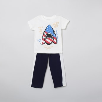 MAX Printed T-shirt with Elasticated Trousers