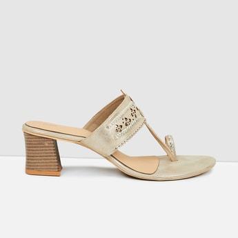MAX Embellished Toe-Strap Heels