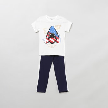 MAX Printed T-shirt with Trousers