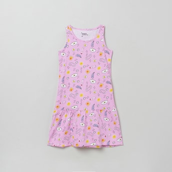 MAX Printed Sleeveless Sleepwear Dress