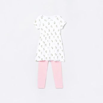 MAX Printed Lounge T-shirt with Elasticated Pants