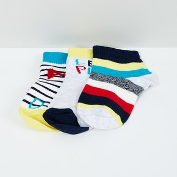 MAX Jacquard Patterned Socks - Set of 3- 1-2 Y