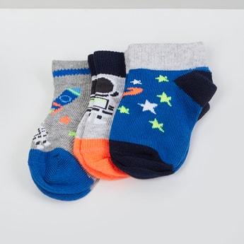 MAX Jacquard Pattern Socks- Pack of 3- 1-2 Y