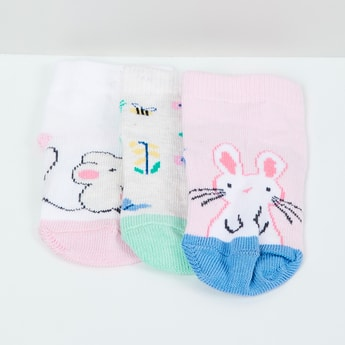 MAX Patterned Knit Socks - Set of 3- 0-6 M