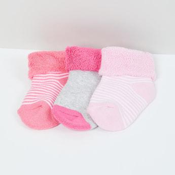 MAX Patterned Ankle-Length Socks - Set of 3- 1-2 Y