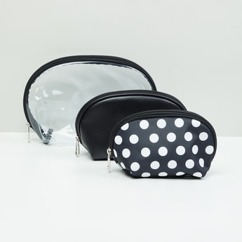 MAX Polka Dot Print Pouch - Set Of 3