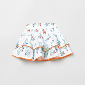 MAX Printed Elasticated Tiered Skirt