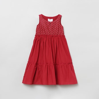 MAX Embroidered A-Line Dress