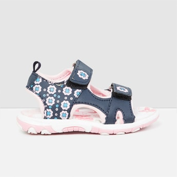 MAX Printed Velcro-Strap Sandals