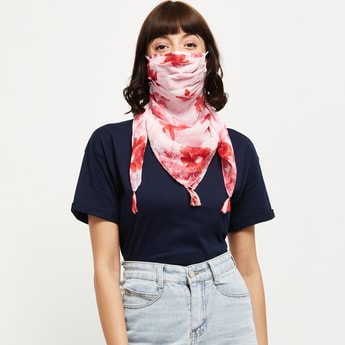 MAX Floral Printed Scarf Mask