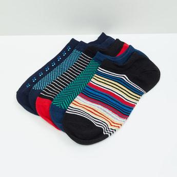 MAX Patterned Ankle-Length Socks - Set of 5