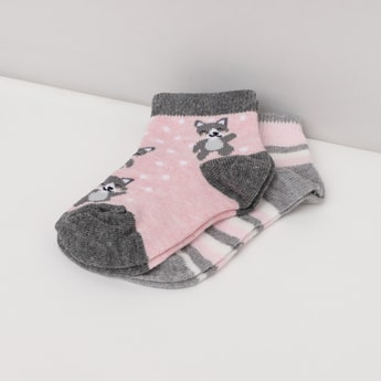 MAX Patterned Ankle-Length Socks - Set of 2